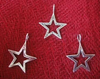 925 sterling silver  oxidized STAR charm or pendant 1 pc., silver star charm, star, silver star
