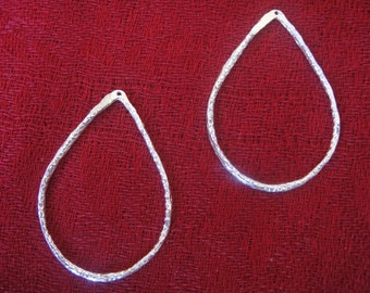 925 sterling silver  shiny teardrop earring finding, pendant 1 pc.