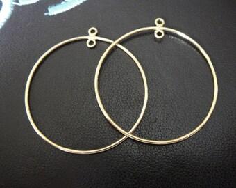 2PC vermeil 925 sterling silver earring finding component, earring finding,  vermeil earring, component, circle earring finding, earring