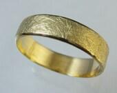 Unisex ring, Man Wedding Band,  Woman Wedding Band,14 karat gold ring, Recycled gold, Wedding Band, Made To Order  ring