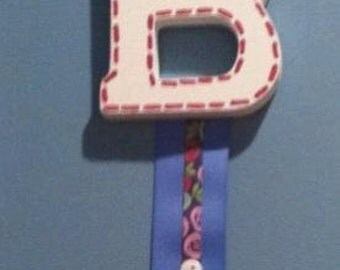Handpainted Letter Bowholder-Small