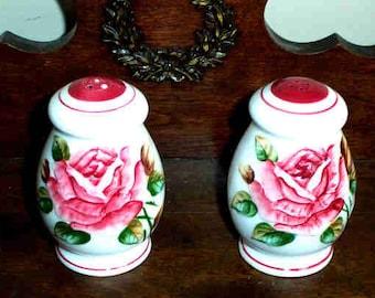 Vintage Lefton AMERICANA Regal Rose Salt & Pepper Shakers