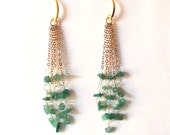 Chandelier green earrings - IVY - AMEjewels