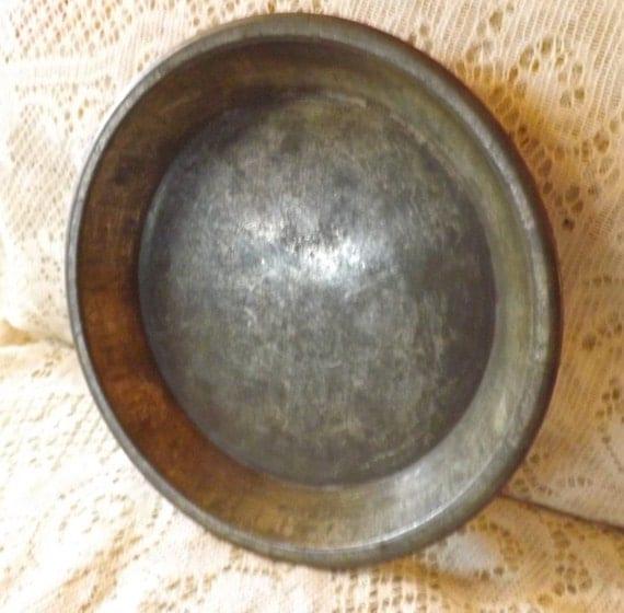 Antique Vintage Solid Tin Pie Plate Pan 8 By Blackwolfantiques