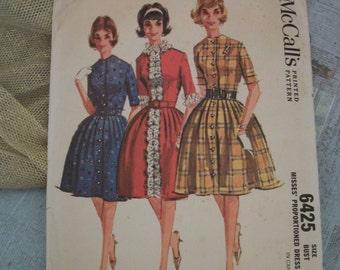 1962 McCalls Misses Pattern 6425 -  Misses Size 10