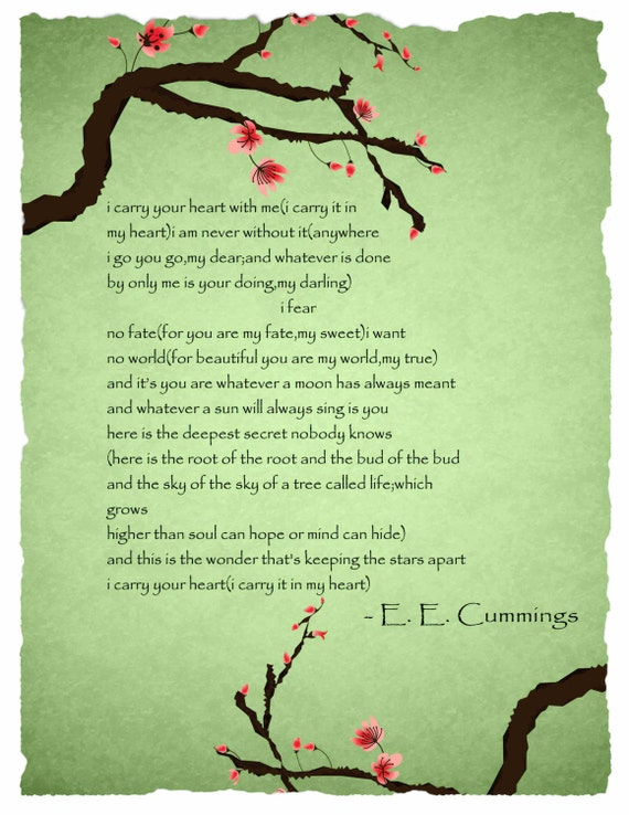 I Carry Your Heart By E E Cummings Lessons Tes Teach