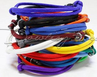 Adjustable Solid Paracord Survival Rope Bracelet