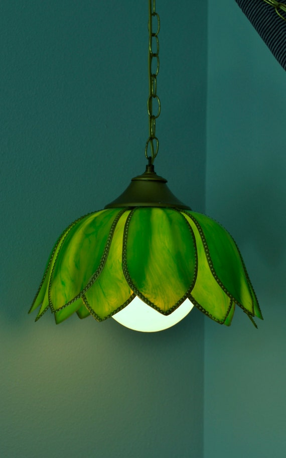 Vintage Hanging Light 1960s Retro Style Tulip By Threebrevival