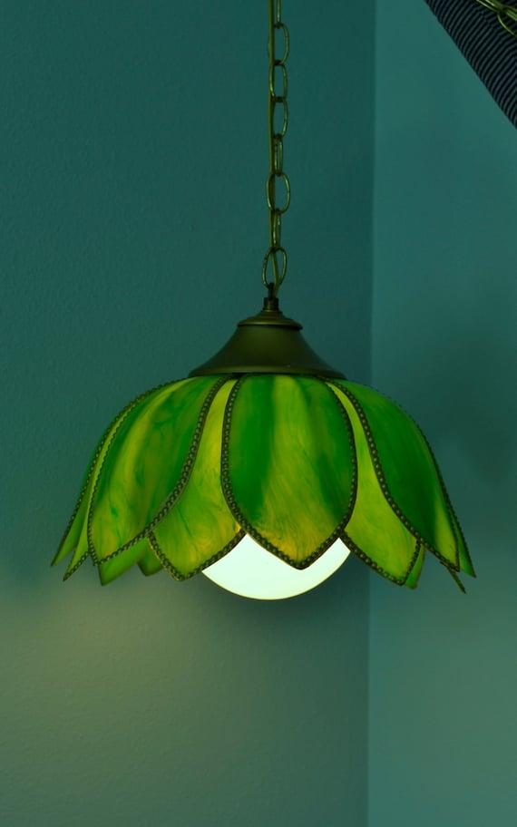 vintage hanging light 1960s retro style tulip lotus flower