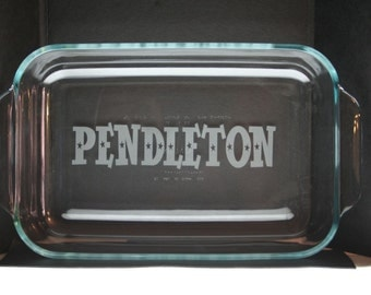 Personalized 2qt. Baking Dish Etched with your name