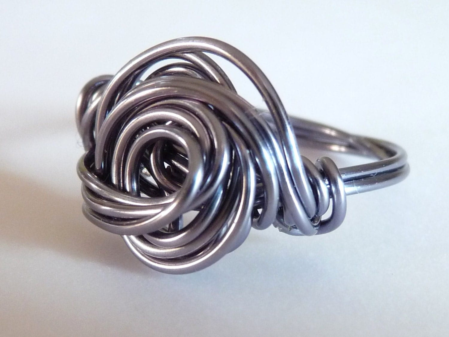 wire ring love knot celtic knot friendship ring wrapped. Black Bedroom Furniture Sets. Home Design Ideas