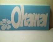 "Original Hand Painted 6x12 inch Canvas Wall Painting - ""Ohana"""