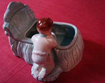 Vintage Ceramic Planter Baby Toddler at Bedtime Prayers