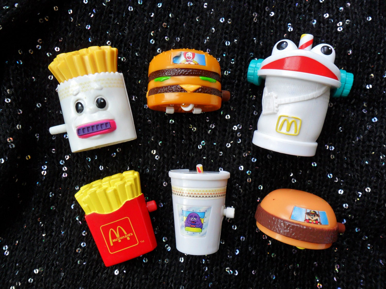 Toys From The 90s : Vintage retro s mcdonalds toys fast food junk fries