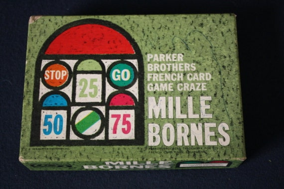 Mille Bornes.  1964 Parker Brothers French Card Game.