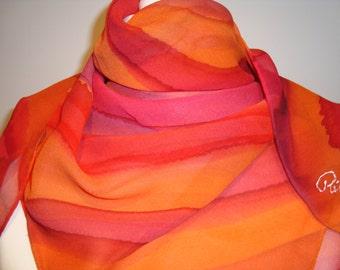 Crepe Georgette 100% Silk Scarf, 90cm x 90cm