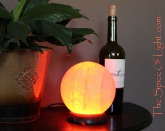Reserved-  Holistic Spherical Orb, Himalayan salt lamp sphere or globe sculpture
