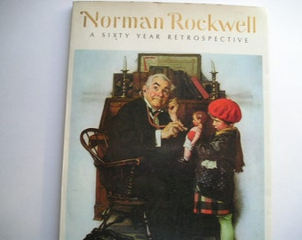 Vintage Book|Collectible Book|Coffee Table Book|Norman Rockwell: A Sixty Year Retrospective|Norman Rockwell Illustrations|Art|Fine Art Book