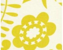 Kamal in Moss KUMARI GARDEN  fabric by Dena Designs for Free Spirit Fabric  Lime floral fabric Mod 1/2 yard
