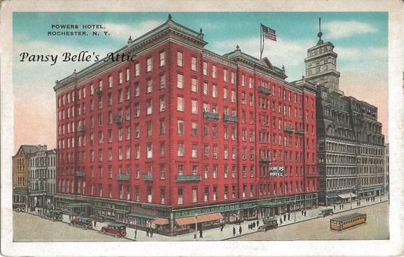 1920's Powers Hotel Rochester NY postcard