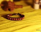 Golden Sand Bracelet - Golden sand beads from Taiwan, natural colors, golden sparkles reflection, original jewelry