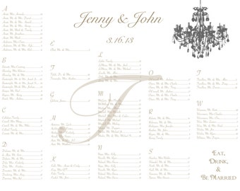 Elegant Chandelier Seating Chart