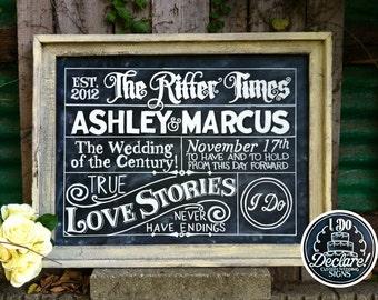 Extra Extra Custom Wedding Chalkboard Art