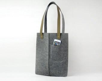 20% OFF! Felt Shoulder Bag Casual Bag Hand Bag Handbag Laptop Bag Tote Business Bag with Kraft Paper Straps E1269