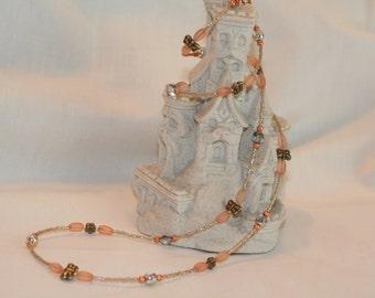 Peach Butterflies Necklace (1024)