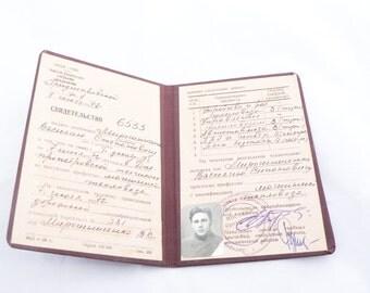 1972 Certificate for locomotive control. USSR vintage