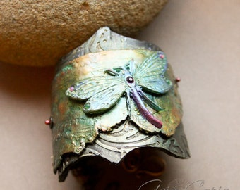 RESERVED Sweet Dragonfly Bracelet Cuff