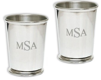 Mint Julep Cups - Fine Pewter - Free Engraving - Made in England