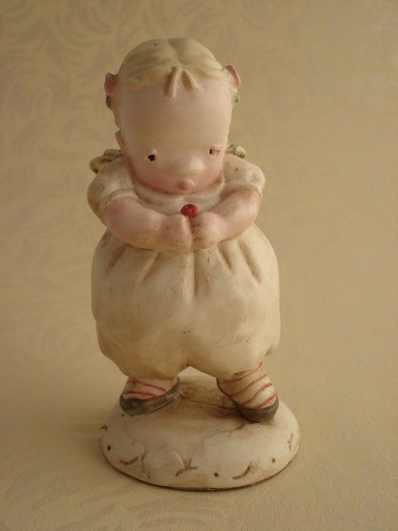 Vintage Charpente Baby Girl Angel Figurine By Michel And