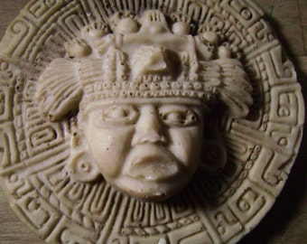 Carved Soapstone Mayan Mexican Hanging Plaque