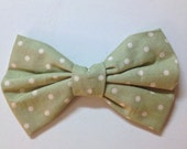 Polka Dot Pretty Bow, Mint Hair Bow, Green Hair Bow, Green Bow Tie, Bow Tie, Hair Bow, Polka Dot Hair Bow, Polka Dots, Hair Accessories