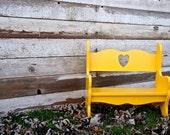 Beautiful Kid bench in Canary Yellow - VibrantRestorations