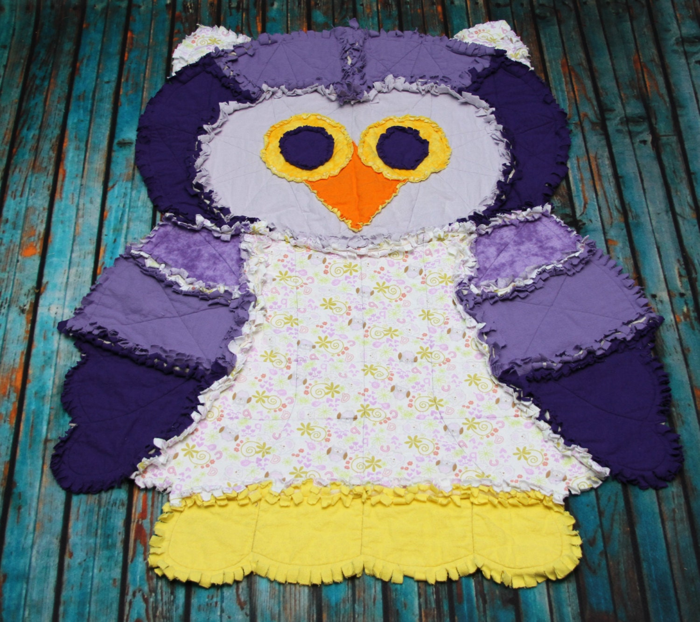 Rag Quilt Owl Pattern : Olivia the Owl Rag Quilt