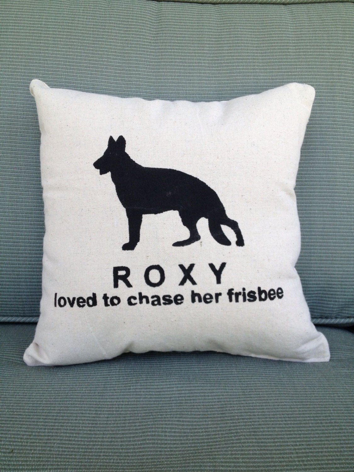 Personalized Pet Silhouette throw pillow dog horse