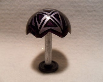Dollhouse, original miniature Tiffany look table lamp. For display or doll house accessory. Non electrical.