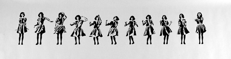 afro stencil | Ladies Dancing Clipart | Dance silhouette ... |Pretty Girl Dance Stencil