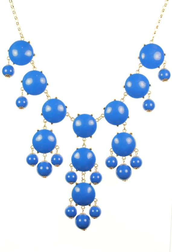Blue Bubble Necklace, jcrew bubble necklace, J crew bubble necklace, Bubble Statement Necklace