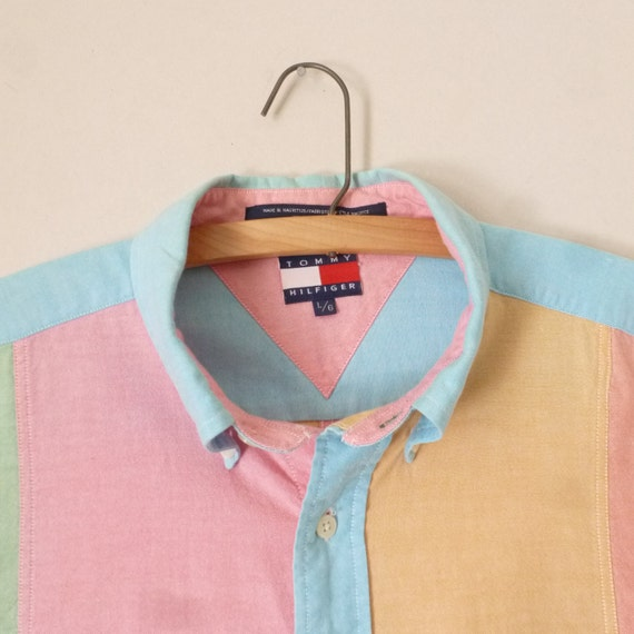 Tommy hilfiger oxford pastel ocbd 90s color block oxford for Pastel colored men s t shirts