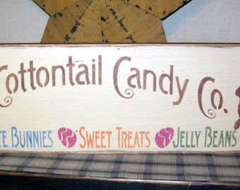 P. Cottontail Candy Co. primitive sign