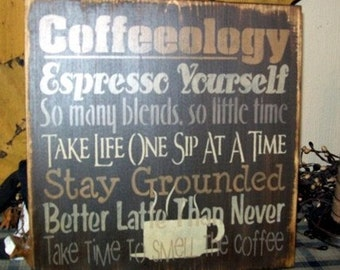COFFEEOLOGY TYPOGRAPHY Primitive Sign