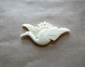 Vintage Carved Bird Pendant