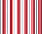 Sarah Jane Red Racer Stripes, Children at Play, Michael Miller 1 yard