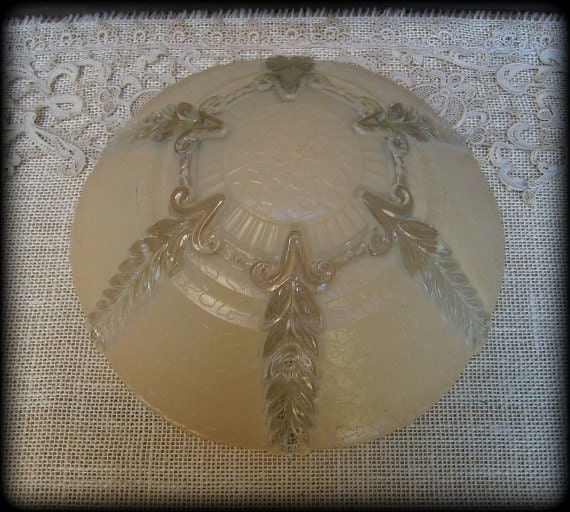 Ceiling Lamp Glass Cover: Vintage Glass Ceiling Light Cover Shade Replacement By