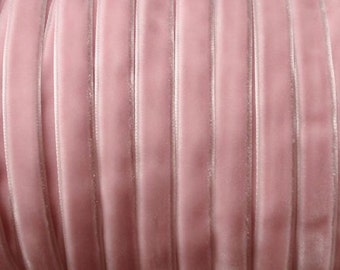 10 Yards 3/8 inch Velvet Ribbon in Pink RY-038-036