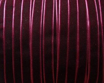 10 yards 3/8 inches Velvet Ribbon in Wine RY38-238