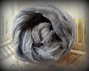 Hand Dyed Cheese Cloth -  Gray